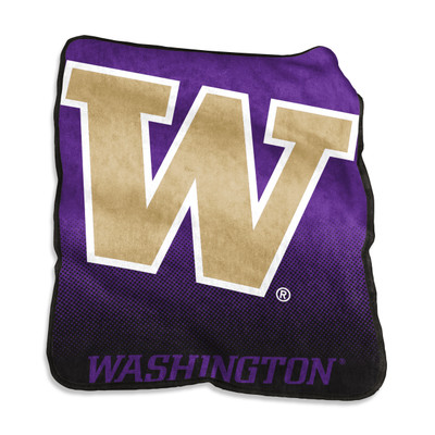 Washington Huskies Raschel Throw Blanket | Logo Chair | 237-26A-1