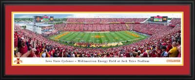 Iowa State Cyclones Stadium Panoramic Photo Deluxe Matted Frame | Blakeway | IASU6D