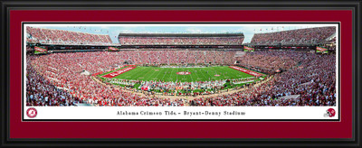 Alabama Crimson Tide Stadium Panoramic Photo Deluxe Matted Frame | Blakeway | UAL6D