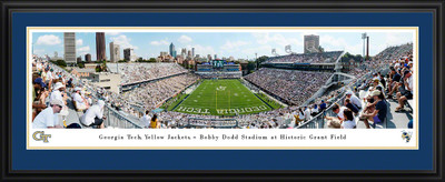 Georgia Tech Yellow Jackets Panoramic Stadium Photo Deluxe Matted Frame | Blakeway | GAT3D