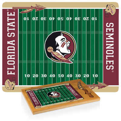 FSU Seminoles Icon Cheese Tray | Picnic Time | 910-00-505-174-0