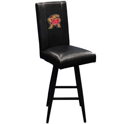 Maryland Terrapins Bar Stool Swivel 2000 | Dreamseat |XZ2000BSSBLK-PSCOL13240