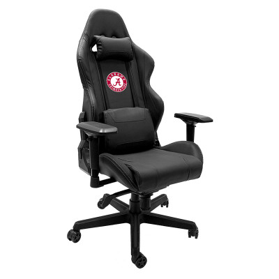 Alabama Crimson Tide Logo Xpression Gaming Chair   Dreamseat  XZGCXPSNBLK-PSCOL12070