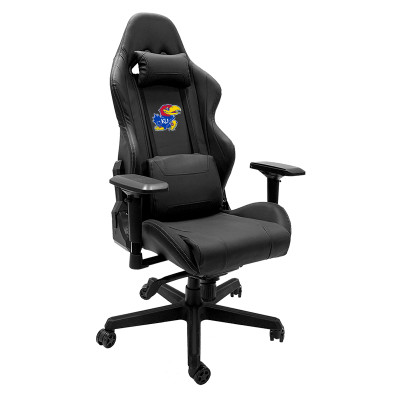 Kansas Jayhawks Logo Panel Xpression Gaming Chair | Dreamseat |XZGCXPSNBLK-PSCOL13195