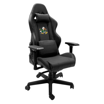 Miami Hurricanes Logo Panel with Secondary logo Xpression Gaming Chair | Dreamseat |XZGCXPSNBLK-PSCOL12112