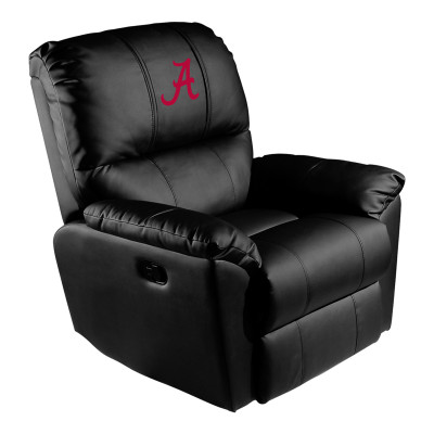 Alabama Crimson Tide Rocker Recliner with Red A logo | Dreamseat |XZ52031CDRRBLK-PSCOL12071