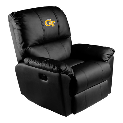 Georgia Tech Yellow Jackets Rocker Recliner with Block GT logo | Dreamseat |XZ52031CDRRBLK-PSCOL12082