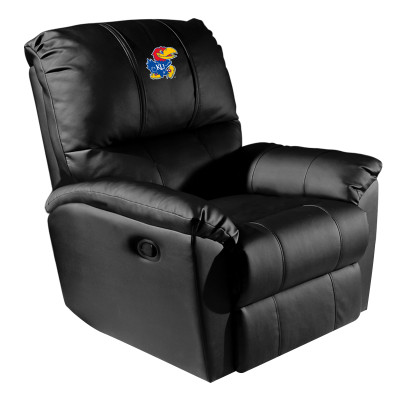Kansas Jayhawks Rocker Recliner with Logo Panel | Dreamseat |XZ52031CDRRBLK-PSCOL13195