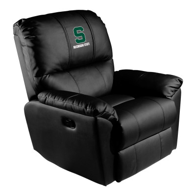Michigan State Spartans Rocker Recliner with Secondary logo | Dreamseat |XZ52031CDRRBLK-PSCOL13221