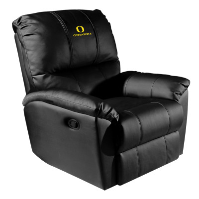 Oregon Ducks Rocker Recliner with Primary logo | Dreamseat |XZ52031CDRRBLK-PSCOL13407
