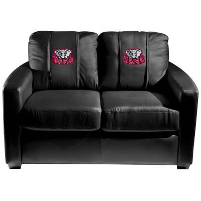 Alabama Crimson Tide BAMA  Silver Love Seat | Dreamseat | XZ7759003LSCDBK-PSCOL12073