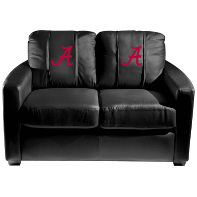 Alabama Crimson Tide  Silver Love Seat with Red A logo | Dreamseat | XZ7759003LSCDBK-PSCOL12071
