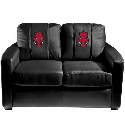 Arkansas Razorbacks Secondary Logo  Silver Love Seat | Dreamseat | XZ7759003LSCDBK-PSCOL12016