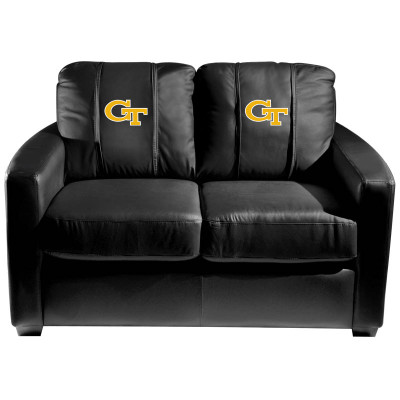 Georgia Tech Yellow Jackets  Silver Love Seat with Block GT logo | Dreamseat | XZ7759003LSCDBK-PSCOL12082