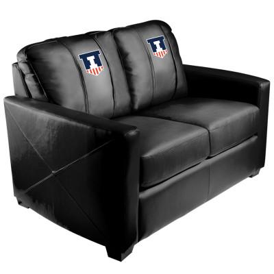 Illinois Fighting Illini  Silver Love Seat | Dreamseat | XZ7759003LSCDBK-PSCOL13600