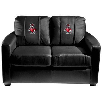NC State Wolfpack  Silver Love Seat with Wolf logo | Dreamseat | XZ7759003LSCDBK-PSCOL13626