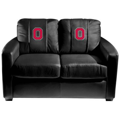 Ohio State Buckeyes Silver Love Seat with Buckeyes Block O logo | Dreamseat | XZ7759003LSCDBK-PSCOL11052