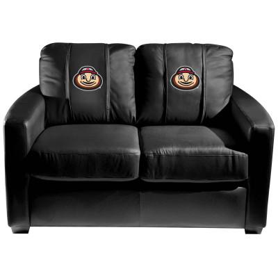 Ohio State Buckeyes Silver Love Seat with Buckeyes Brutus Head logo | Dreamseat | XZ7759003LSCDBK-PSCOL11051