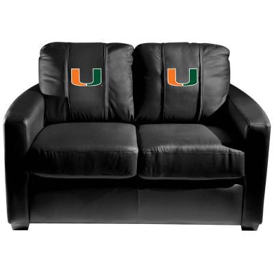 Miami Hurricanes Silver Love Seat | Dreamseat | XZ7759003LSCDBK-PSCOL12110