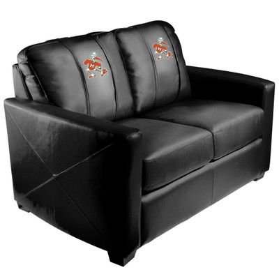 Miami Hurricanes Silver Love Seat with Secondary logo | Dreamseat | XZ7759003LSCDBK-PSCOL12112