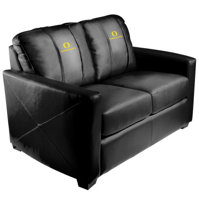 Oregon Ducks Silver Love Seat with Primary logo | Dreamseat | XZ7759003LSCDBK-PSCOL13407