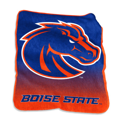 Boise State Broncos Raschel Throw Blanket   Logo Chair   112-26A