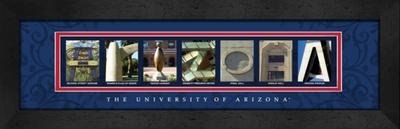Arizona Wildcats Campus Letter Art | Get Letter Art | CLAL1B22ARIZ