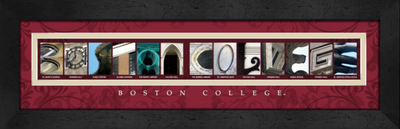 Boston College Campus Letter Art Print | Get Letter Art | CLAL1B22BSCO
