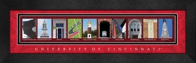 Cincinnati Bearcats Campus Letter Art Print | Get Letter Art | GLACLAL1B22CINC
