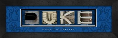 Duke Blue Devils Campus Letter Art Print | Get Letter Art | CLAL1B22DUKE