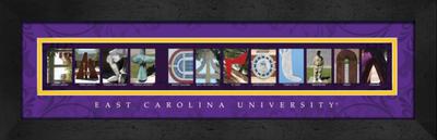 East Carolina Pirates Campus Letter Art Print | Get Letter Art | CLAL1B22ECAR