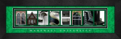 Marshall Thundering Herd Campus Letter Art Print | Get Letter Art | CLAL1B22MRSH