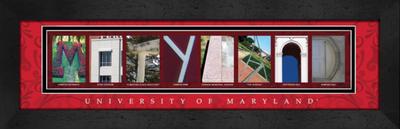 Maryland Terrapins Campus Letter Art | Get Letter Art | CLAL1B22MRLD