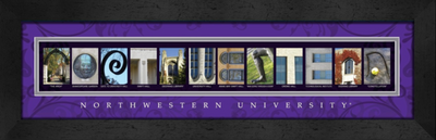 Northwestern Wildcats Campus Letter Art | Get Letter Art | CLAL1B22NWUN