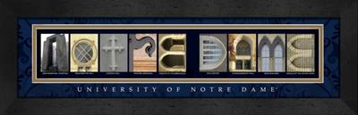Notre Dame Fighting Irish Campus Letter Art | Get Letter Art | CLAL1C22NOTR