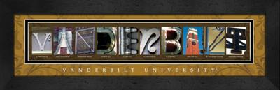 Vanderbilt Commodores Campus Letter Art | Get Letter Art | CLAL1B22VAND
