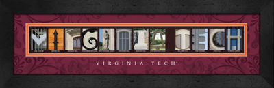 Virginia Tech Hokies Campus Letter Art Print | Get Letter Art | CLAL1B22VTCH