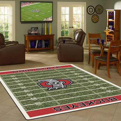 Ohio State Buckeyes Football Field Rug | Milliken | 4000052309