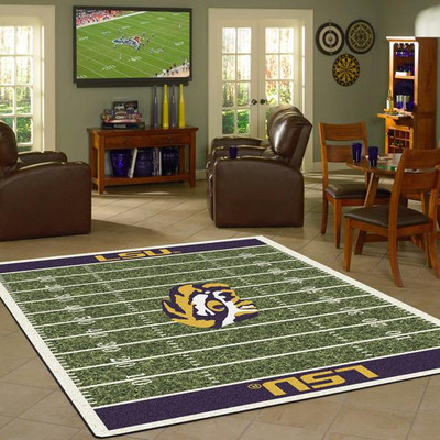 LSU Tigers Football Field Rug | Milliken | 4000054633