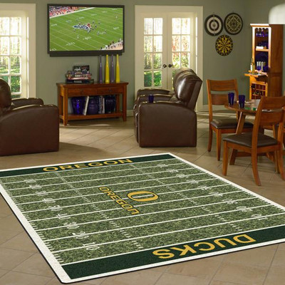 Oregon Ducks Football Field Rug | Milliken | 4000054649
