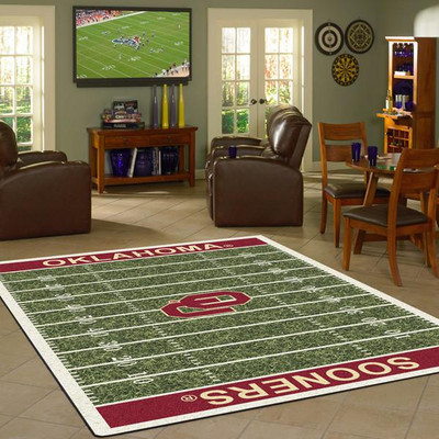 Oklahoma Sooners Football Field Rug | Milliken | 4000054647
