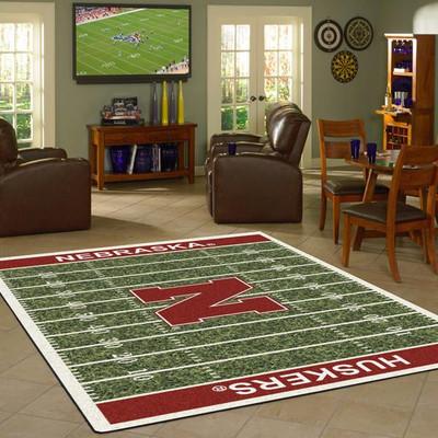 Nebraska Huskers Football Field Rug | IMPERIAL | 520-310