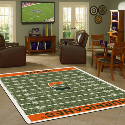 Miami Hurricanes Football Field Rug | Milliken | 4000054637