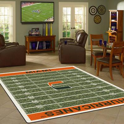 Miami Hurricanes Football Field Rug | Milliken | 4000054637