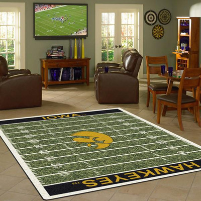 Iowa Hawkeyes Football Field Rug | Milliken | 4000054627