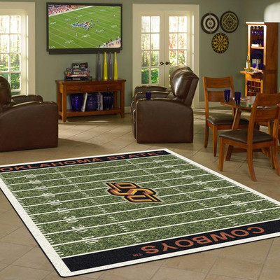 Oklahoma State Cowboys Football Field Rug | Milliken | 4000054648