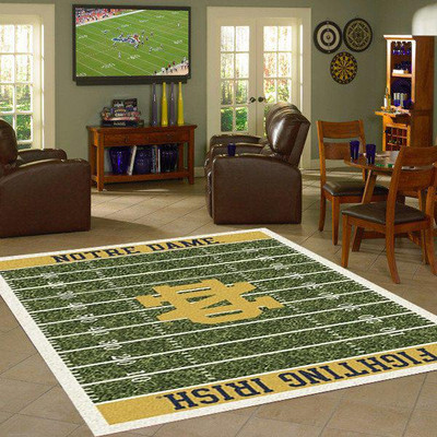 Notre Dame Fighting Irish Football Field Rug | Milliken | 4000054646