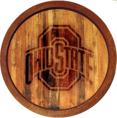 Ohio State Buckeyes 20 inch Barrel Team Logo Wall Sign--Primary Logo-Branded | Grimm Industries |OS-240-02