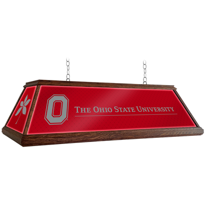 Ohio State Buckeyes 49 inch Premium Deluxe Wood Pool Table Light--Block O | Grimm Industries |OS-330-01