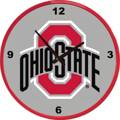Ohio State Buckeyes 17 inch Team Disc Wall Clock--Primary Logo | Grimm Industries |OS-510-01